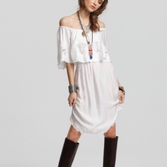 Free People Dresses & Skirts - Free People White Off The Shoulder Dress